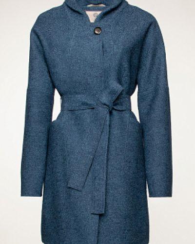 Шерстяное пальто - синее Electrastyle