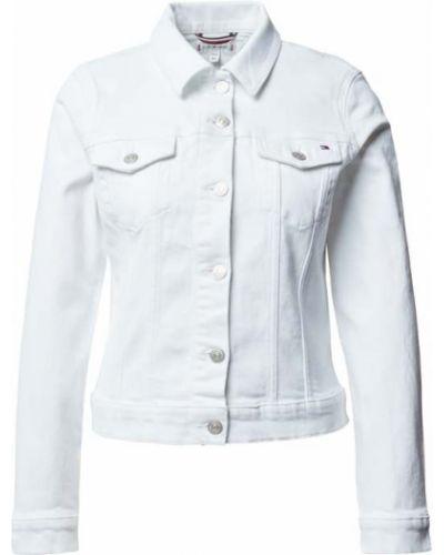 Biała kurtka jeansowa bawełniana Tommy Hilfiger
