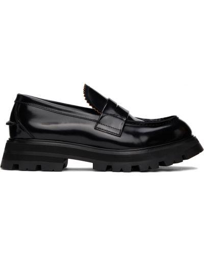 Черные кожаные туфли Alexander Mcqueen