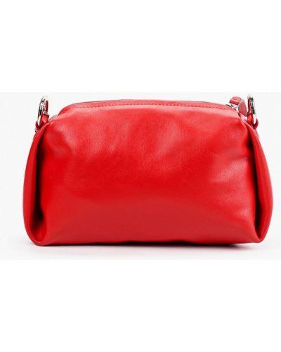 Красная сумка через плечо из натуральной кожи Asya Malbershtein