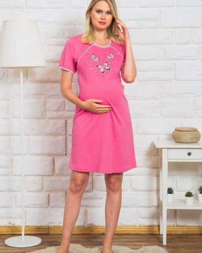 Хлопковая ночнушка - розовая Vienetta