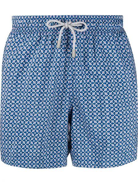Niebieskie spodenki do pływania z nylonu z siateczką Bluemint