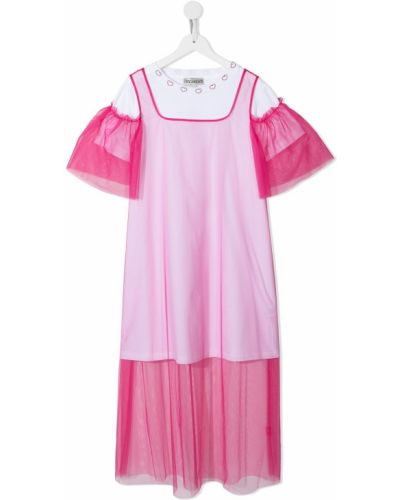 Różowy dres bawełniany krótki rękaw Simonetta