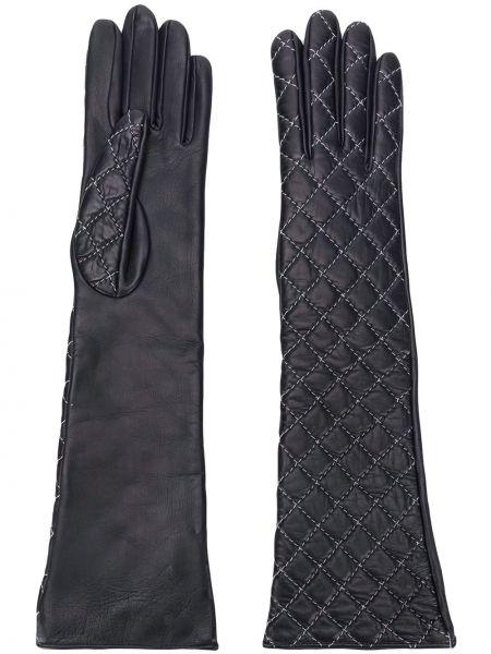 Стеганые черные перчатки Manokhi