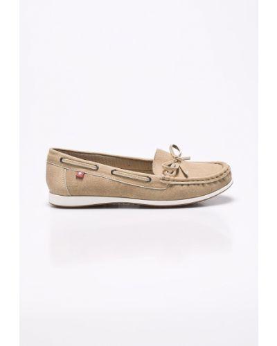 Кожаные ботинки на каблуке текстильные Big Star