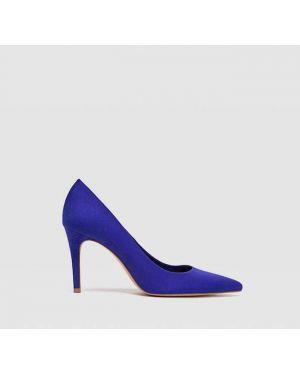 Туфли на каблуке синий на шпильке Stradivarius
