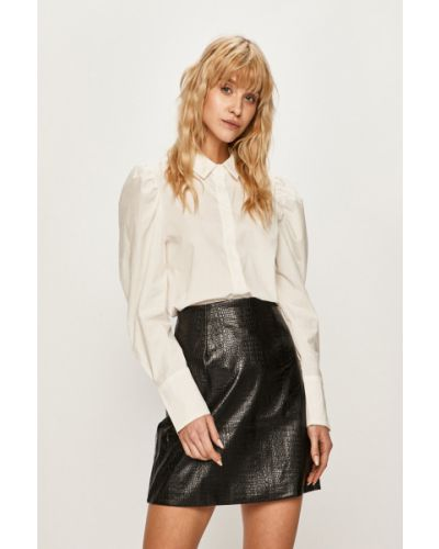Блузка с длинным рукавом однотонная белая Glamorous