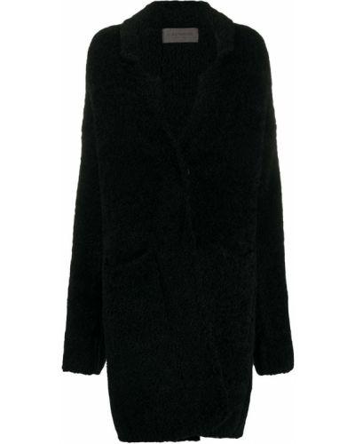 Шерстяное черное длинное пальто оверсайз D.exterior
