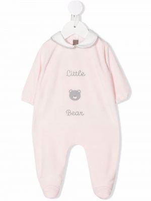 Piżama z długimi rękawami - biała Little Bear