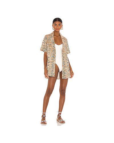 Коричневое платье с карманами Faithfull The Brand