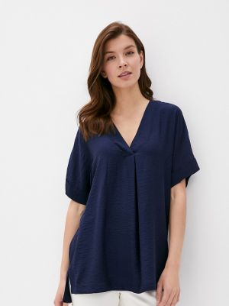 Блузка с коротким рукавом синяя весенний Marks & Spencer