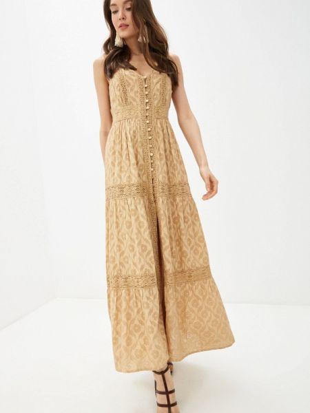 Платье прямое бежевое Fresh Cotton