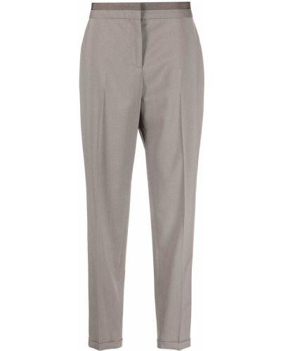 Prążkowane spodnie wełniane Fabiana Filippi