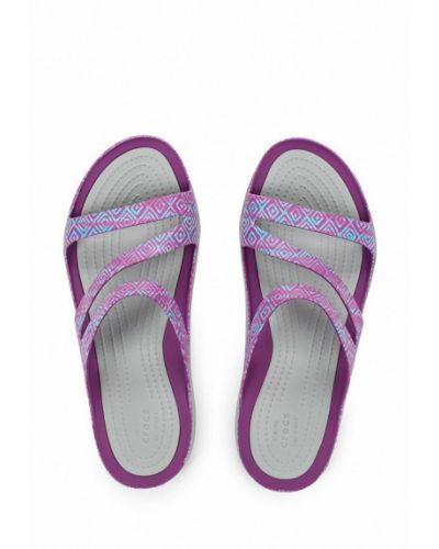 Фиолетовые сланцы Crocs