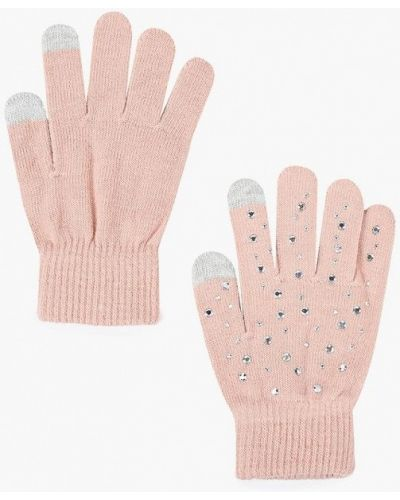 Розовые перчатки текстильные Ovs