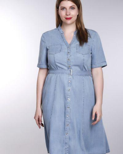 Платье с поясом на пуговицах теплое Gerry Weber