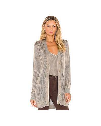 Шелковый коричневый вязаный свитер L'agence