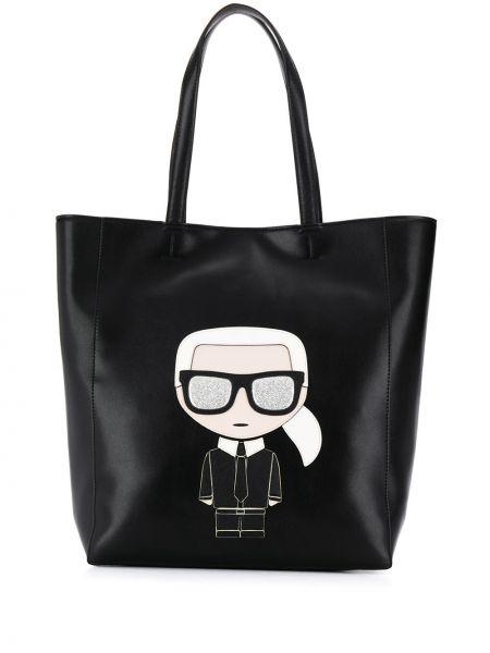 Сумка-тоут с ручками черная Karl Lagerfeld