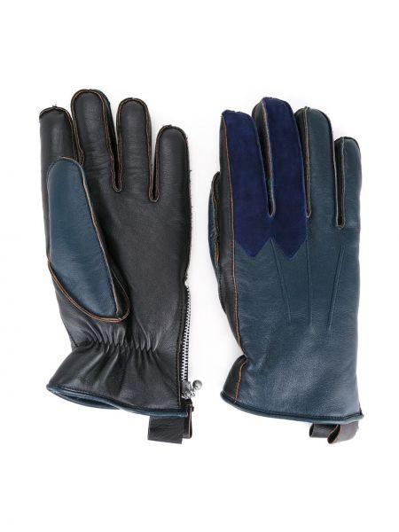 Синие кожаные перчатки из овчины Addict Clothes Japan