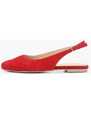 Туфли на каблуке с открытой пяткой красные Pier One