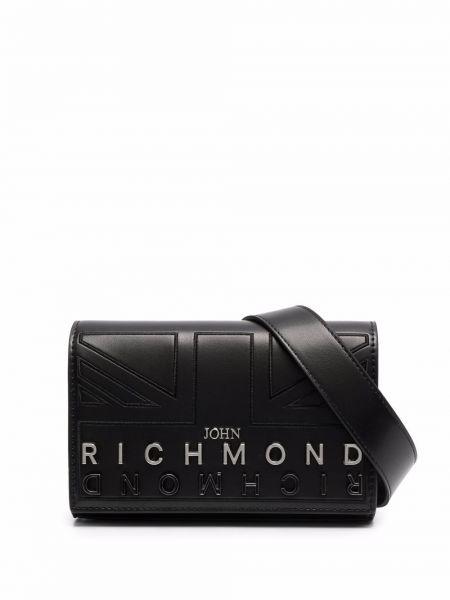 Поясная сумка с логотипом - черная John Richmond