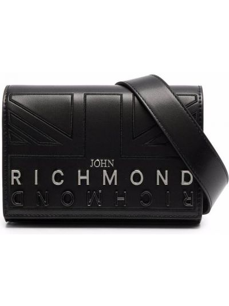 Czarny pasek z paskiem John Richmond