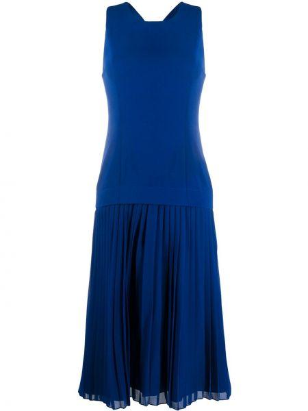 Платье миди трапеция - синее Paul Smith
