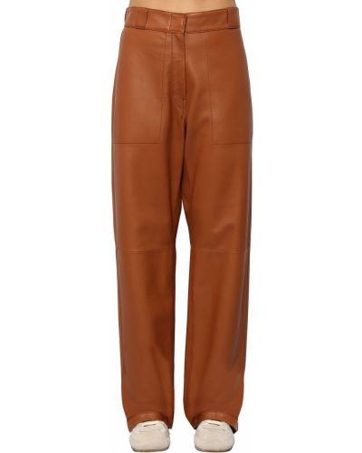 Кожаные брюки Loewe