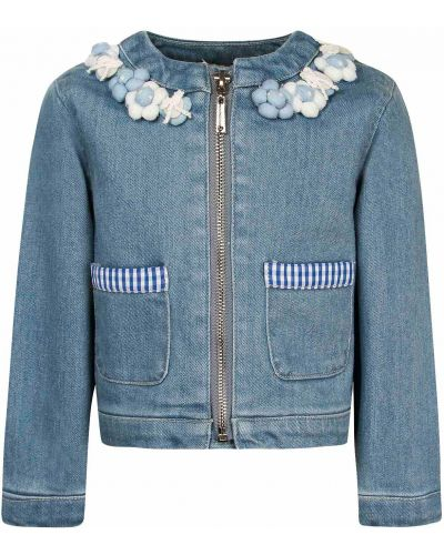 Хлопковый пиджак - голубой Silvian Heach Kids