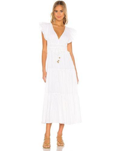 Хлопковое белое платье с подкладкой Karina Grimaldi