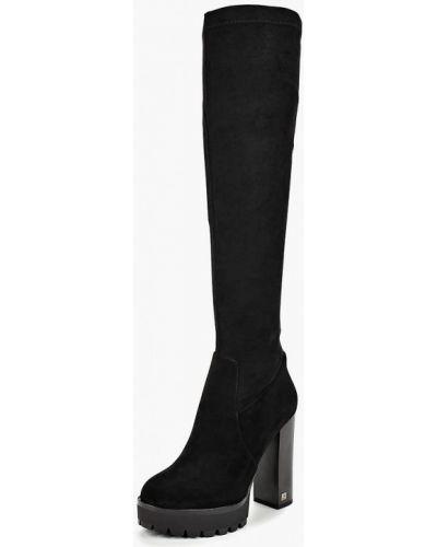 Черные ботфорты замшевые Grand Style