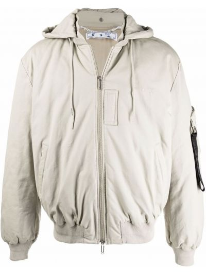 Белая куртка с капюшоном Off-white