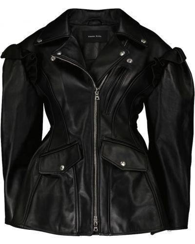 Черная кожаная куртка Simone Rocha