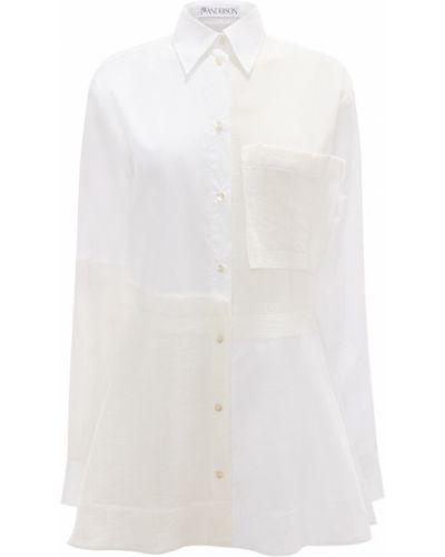 Длинная рубашка - белая Jw Anderson