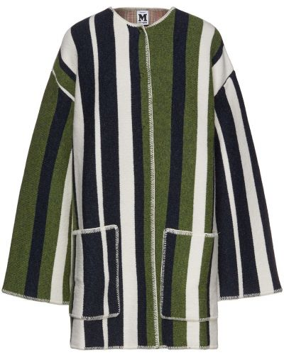 Зеленое шерстяное пальто с карманами M Missoni