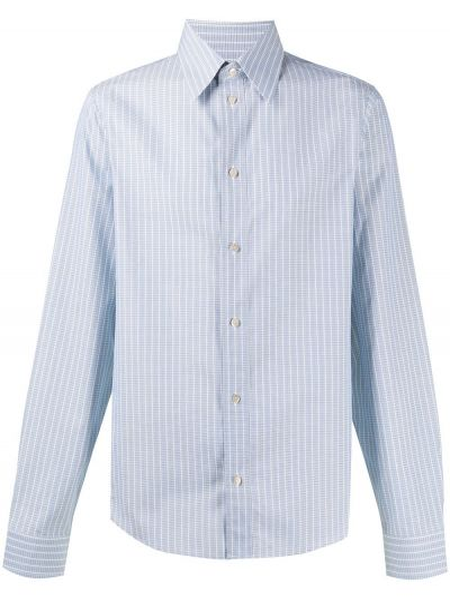 Klasyczny bawełna koszula klasyczna z mankietami z paskami Gucci
