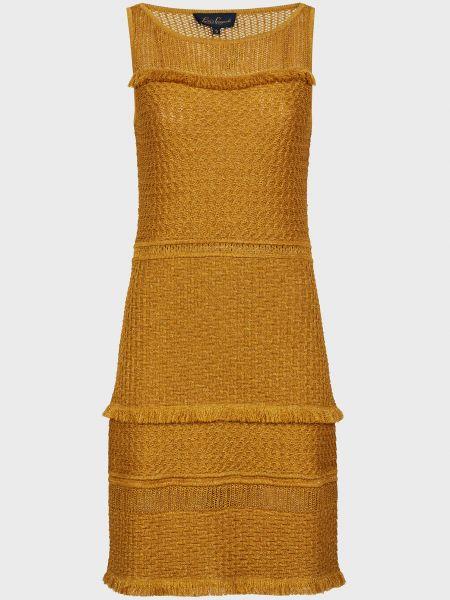 Желтое платье из вискозы Luisa Spagnoli