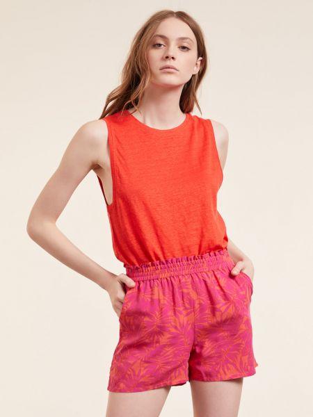 Lniana piżama - pomarańczowa Etam