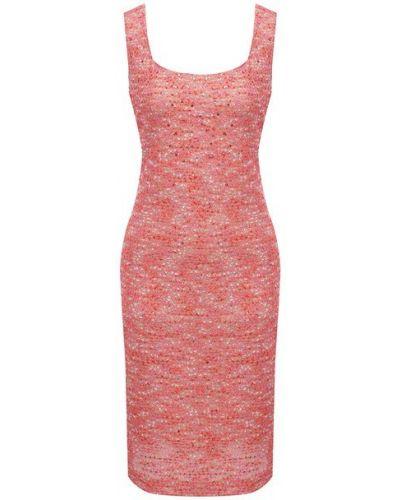 Шелковое розовое платье с подкладкой St. John