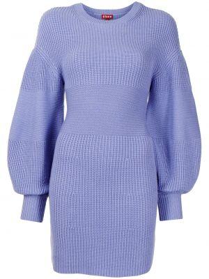 Платье из вискозы - синее Staud