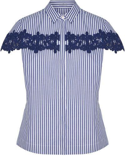 Кружевная блузка - синяя Van Laack