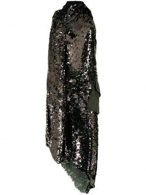 Открытое зеленое платье с открытой спиной Monse
