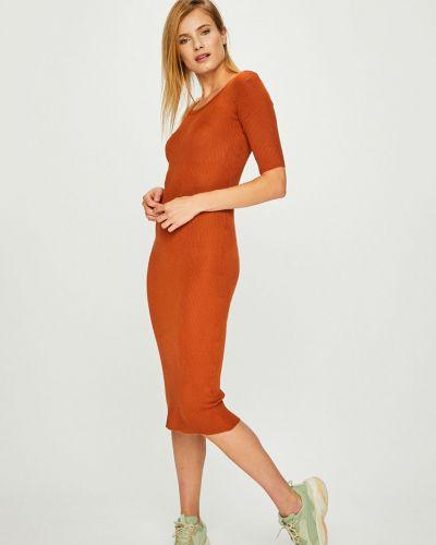 Платье миди прямое трикотажное Answear
