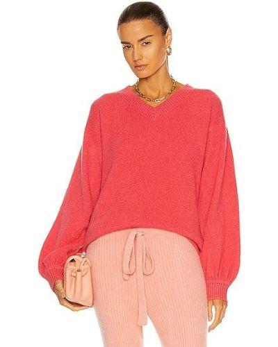 Розовая кашемировая свитер с V-образным вырезом The Elder Statesman
