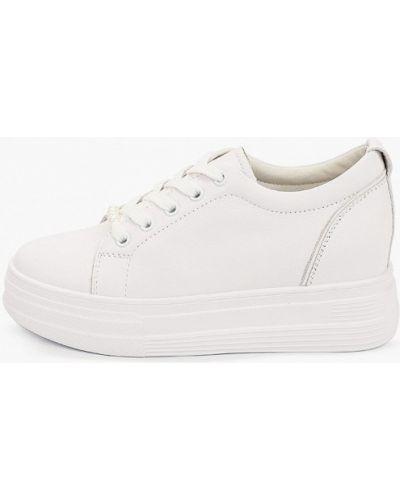 Кожаные белые низкие кеды Sprincway