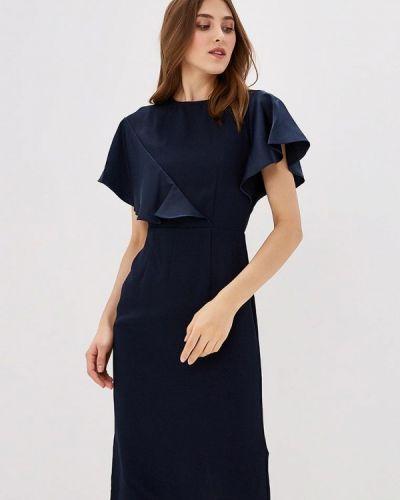 Синее платье Warehouse