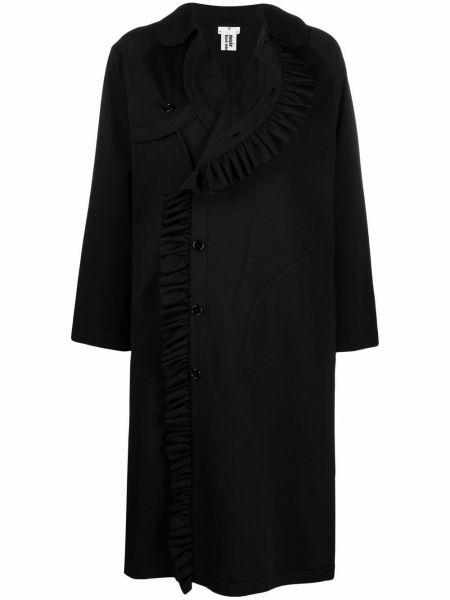 Черное полупальто с воротником Comme Des Garçons Noir Kei Ninomiya