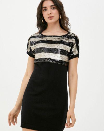 Черное трикотажное платье W.sharvel