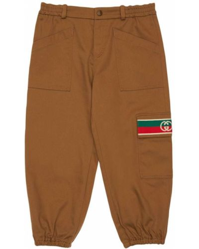 Brązowe spodnie Gucci