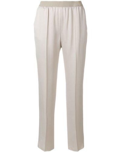 Бежевые укороченные брюки Agnona
